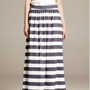 BANANA REPUBLIC Cotton/Linen Striped Patio Skirt